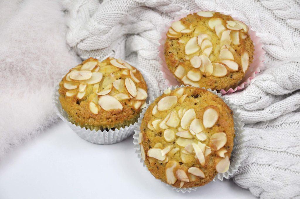 Fit muffiny pomarańczowe z migdałami i czekoladą 2